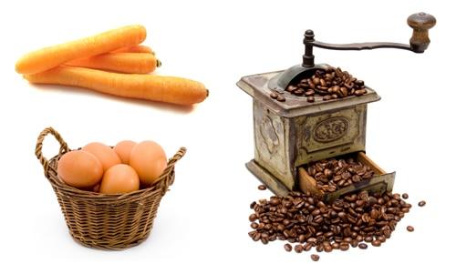 oeuf carotte café