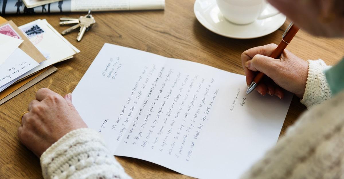 lettre souhait Univers
